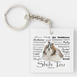Shih Tzu Traits Keychain