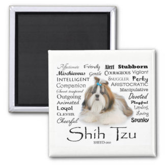 Shih Tzu Traits Magnet