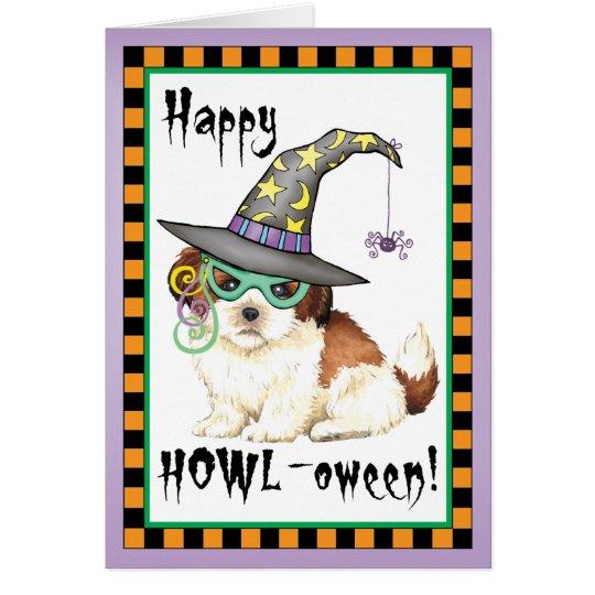 Shih Tzu Witch Card
