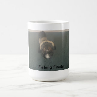 Shih Tzu with fishing gear Coffee Mug
