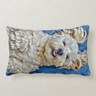 shih Tzu x Jack Russell Cute Dog Lumbar Pillow