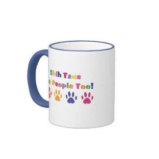 Shih Tzus Are People Too Ringer Mug