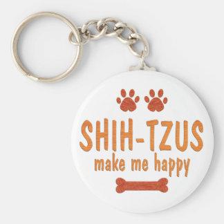 Shih-Tzus Make Me Happy Key Ring