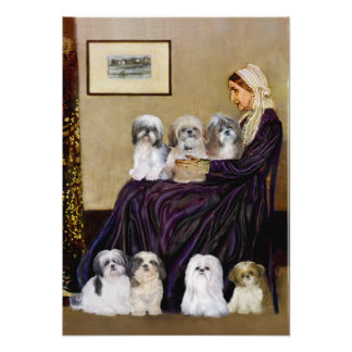 Shih Tzus seven - Whistlers Mother Poster