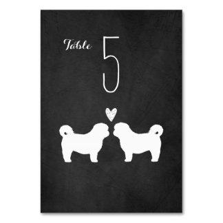 Shih Tzus Wedding Table Card