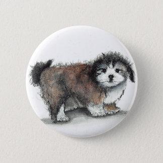 Shihtzu Puppy Dog, Pet 6 Cm Round Badge