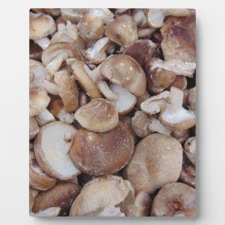 Shiitake Mushrooms Plaque