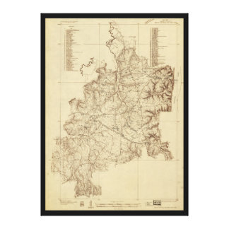 Shiloh National Military Park Tennessee Map (1934) Gallery Wrap Canvas