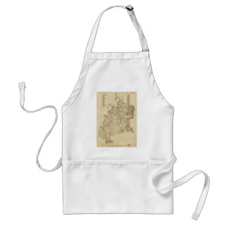 Shiloh National Military Park Tennessee Map (1934) Standard Apron