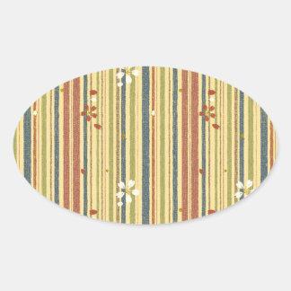 Shima and Sakura Oval Sticker