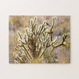 Shimmer Cactus Nevada. Jigsaw Puzzle