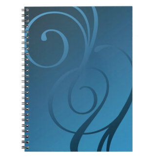 Shimmer Swirls - 28 Color Choices Spiral Note Book