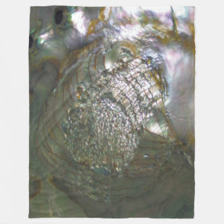 Shimmering Abalone Seashell, Beautiful Nature Fleece Blanket
