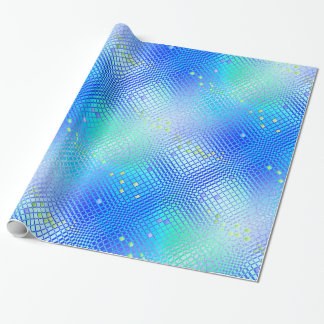 Shimmering Blue Wrapping Paper