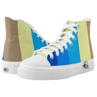Shimmering Blues Stripes High Tops