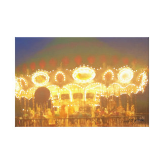 Shimmering Carousel Canvas Print