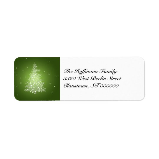Shimmering Christmas Tree return address labels