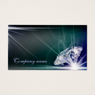Shimmering Diamond Jeweler Business Card