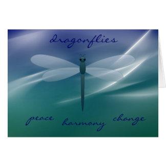 Shimmering Dragonfly Symbolism Note Cards