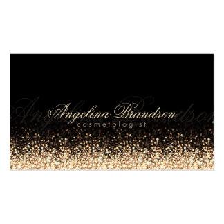 Shimmering Gold Cosmetologist Damask Black Card Pack Of Standard Business Cards