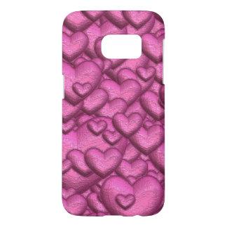 Shimmering hearts pink