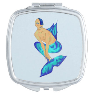 SHIMMERING MERMAID COMPACT MIRROR DESIGN