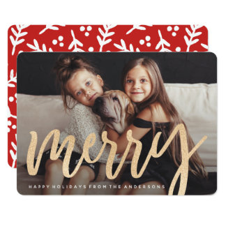 Shimmering Merry Photo Card