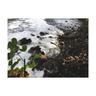 Shimmering Pebbles in Hawaiian Sun Canvas Print