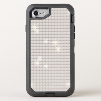 Shimmering Silver Glitter OtterBox Defender iPhone 8/7 Case