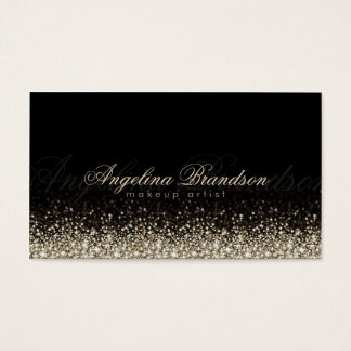Shimmering Silver Makeup Artist Damask Black Card