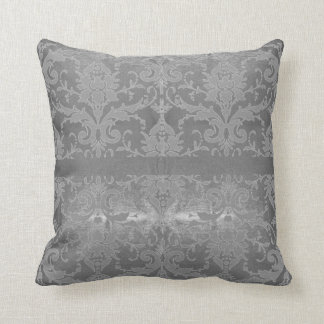 Shimmering Silver Vintage Scroll Cushion