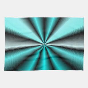 Shimmering Teal Satin Tea Towel
