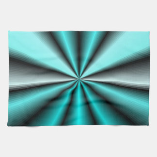 Shimmering Teal Satin Tea Towel