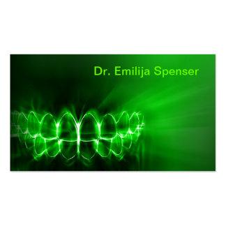 Shimmering Teeth Smile Dental Care Green Card Pack Of Standard Business Cards