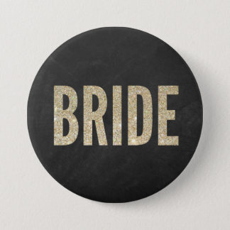 Shimmery Chic Bride Button