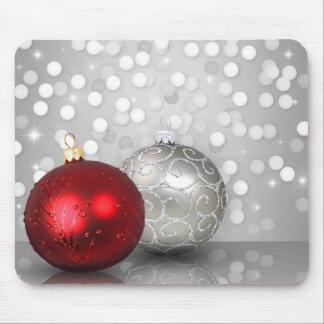 Shimmery Christmas Ornaments - Mousepad