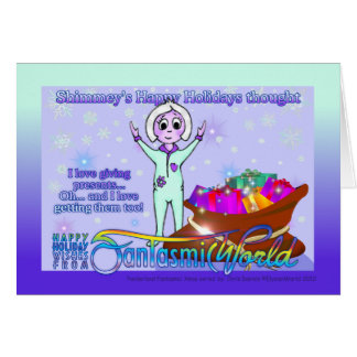 Shimmey's Happy Holidays Thought Greeting Card