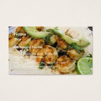 Shimp Tacos Limes Burritos Avocados Business Card