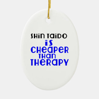 Shin Taido Is Cheaper  Than Therapy Ceramic Oval Decoration