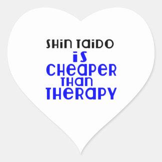 Shin Taido Is Cheaper  Than Therapy Heart Sticker