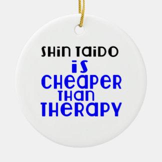 Shin Taido Is Cheaper  Than Therapy Round Ceramic Decoration