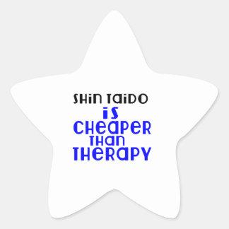 Shin Taido Is Cheaper  Than Therapy Star Sticker