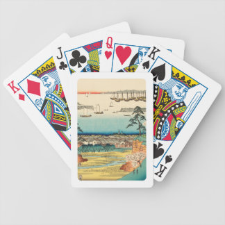 Shinagawa, Japan: Vintage Woodblock Print Bicycle Playing Cards