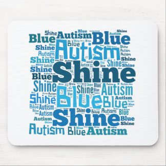 Shine Blue for Autism Products Mouse Pads