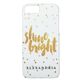 Shine Bright Gold Confetti iPhone 8/7 Case