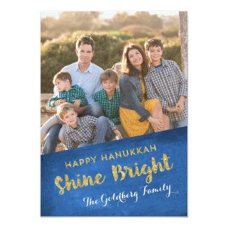 Shine Bright | Hanukkah 13 Cm X 18 Cm Invitation Card
