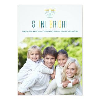 Shine Bright Hanukkah Photo Card 13 Cm X 18 Cm Invitation Card