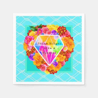 Shine Bright Like A Diamond Disposable Serviette