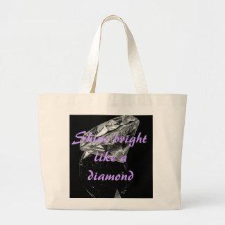 Shine Bright Like A Diamond Jumbo Tote Canvas Bag
