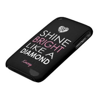 Shine bright like a Diamond - personalized iPhone 3 Case-Mate Cases